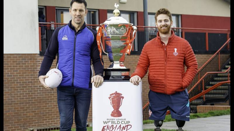 RHINO SIGNS UP FOR RUGBY LEAGUE WORLD CUP 2021 RLWC2021 INSPIRATIONALL PROGRAMME